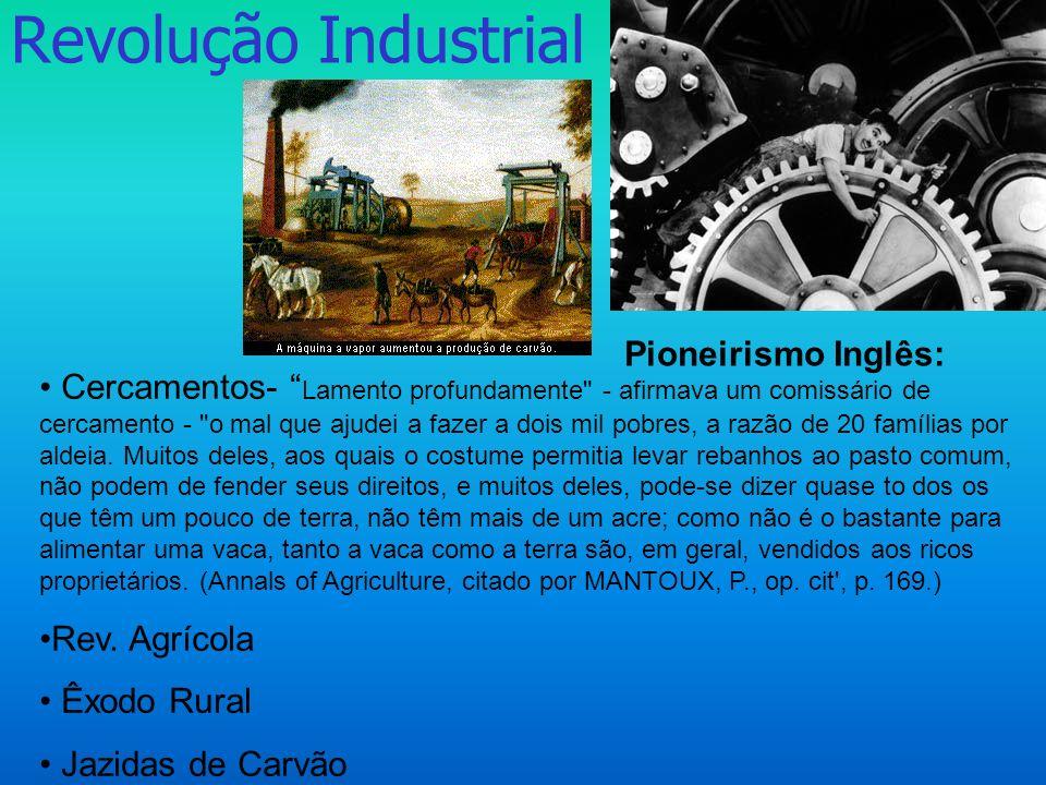 Revolução Industrial Pioneirismo Inglês:
