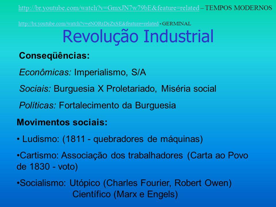 Revolução Industrial Conseqüências: Econômicas: Imperialismo, S/A