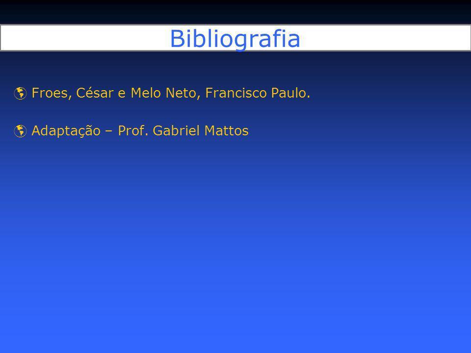 Bibliografia Froes, César e Melo Neto, Francisco Paulo.