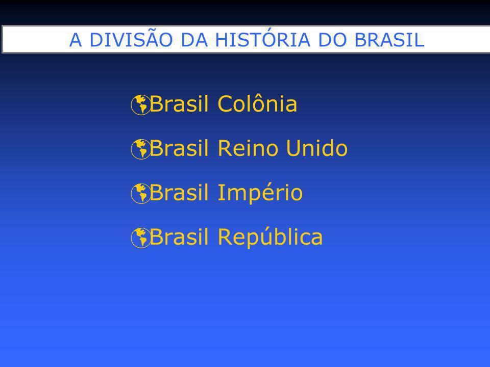 A DIVISÃO DA HISTÓRIA DO BRASIL