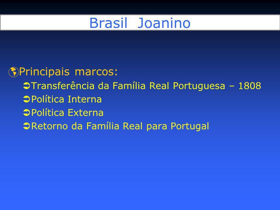 Brasil Joanino Principais marcos:
