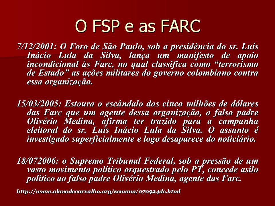 O FSP e as FARC