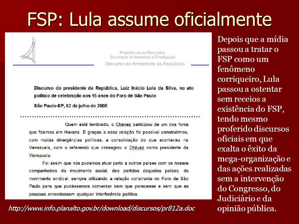 FSP: Lula assume oficialmente