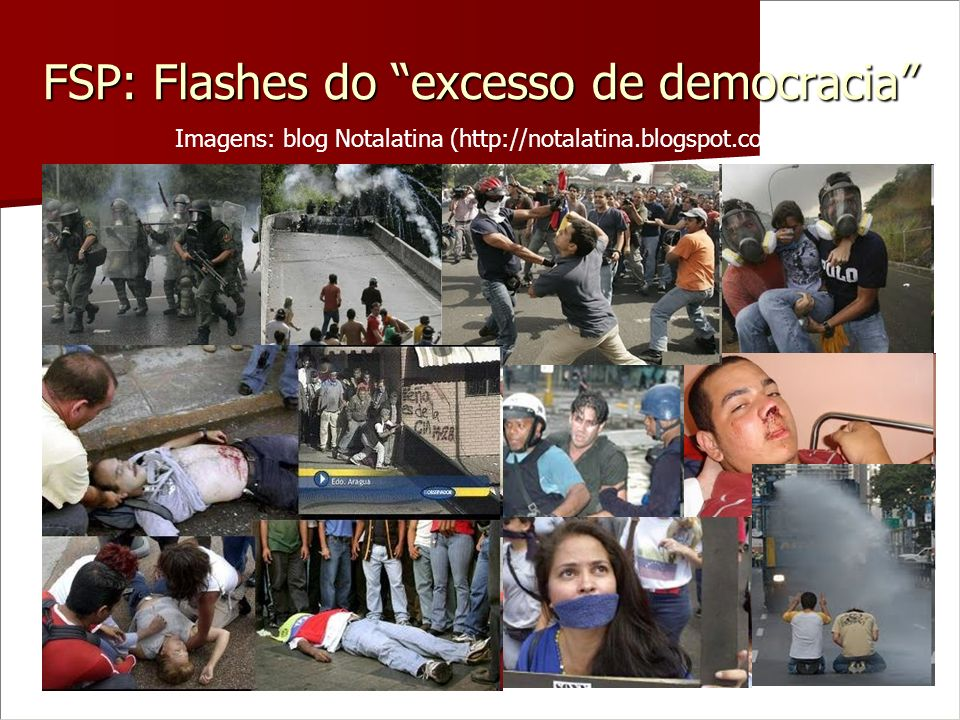 FSP: Flashes do excesso de democracia