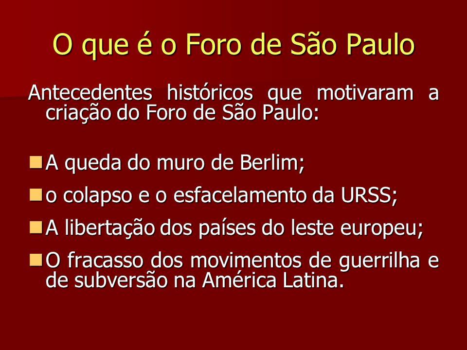 O que é o Foro de São Paulo