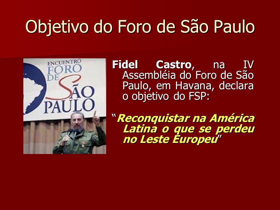 Objetivo do Foro de São Paulo