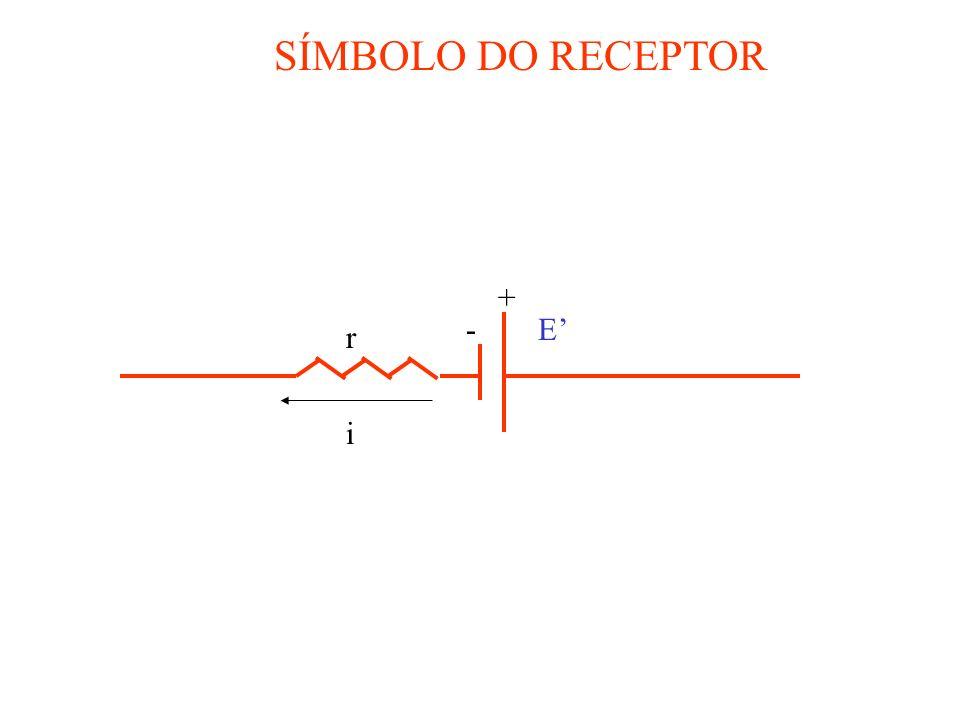 SÍMBOLO DO RECEPTOR E' i + - r
