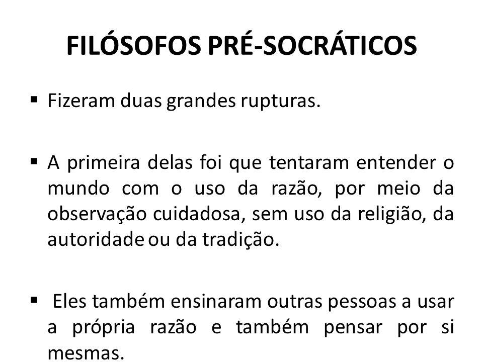 FILÓSOFOS PRÉ-SOCRÁTICOS