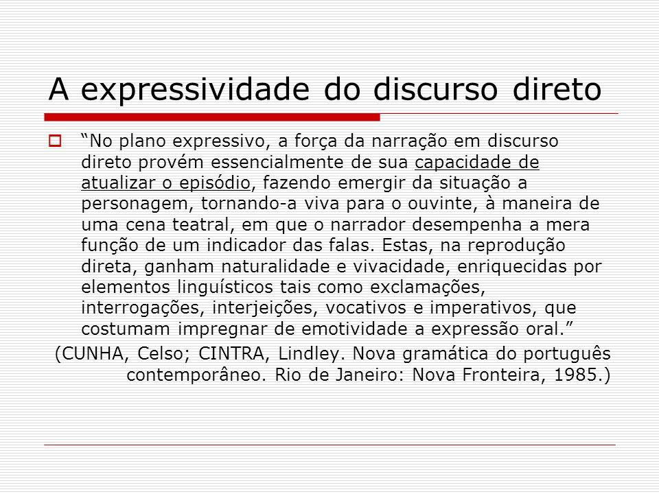 A expressividade do discurso direto