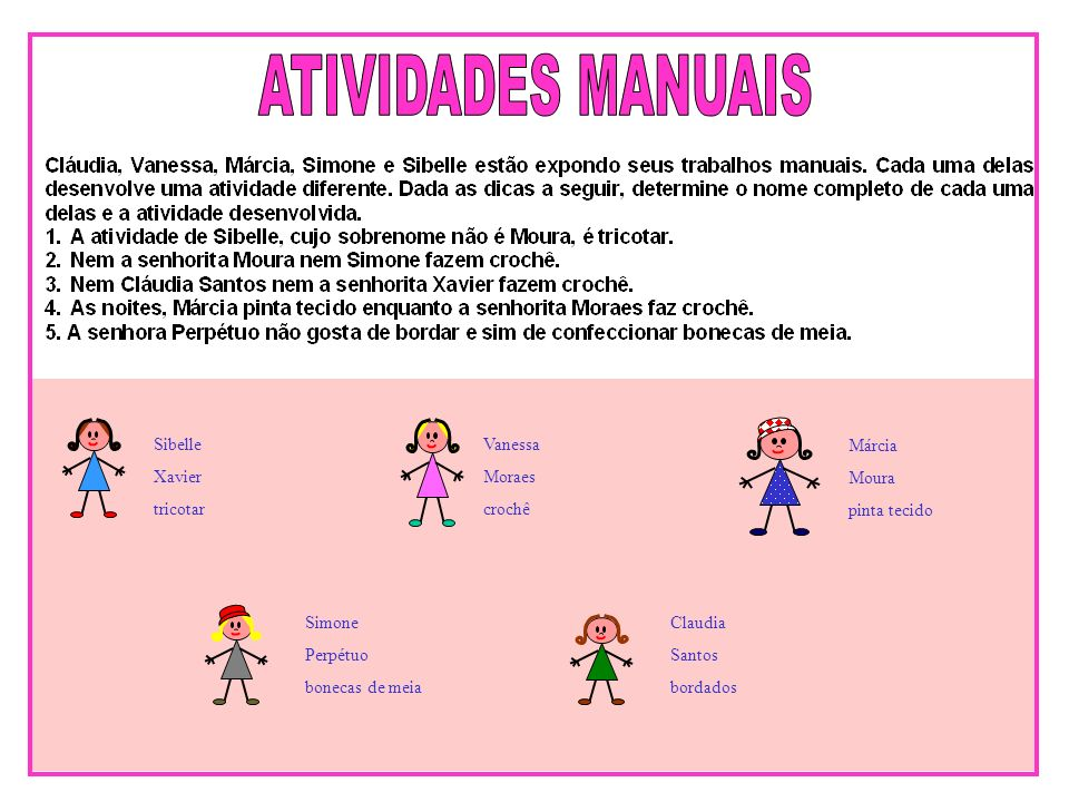 ATIVIDADES MANUAIS Sibelle Xavier tricotar Vanessa Moraes crochê