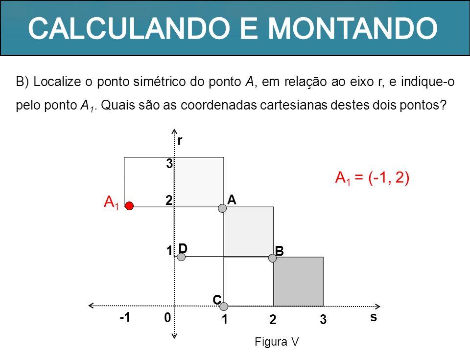 CALCULANDO E MONTANDO A1 = (-1, 2) A1