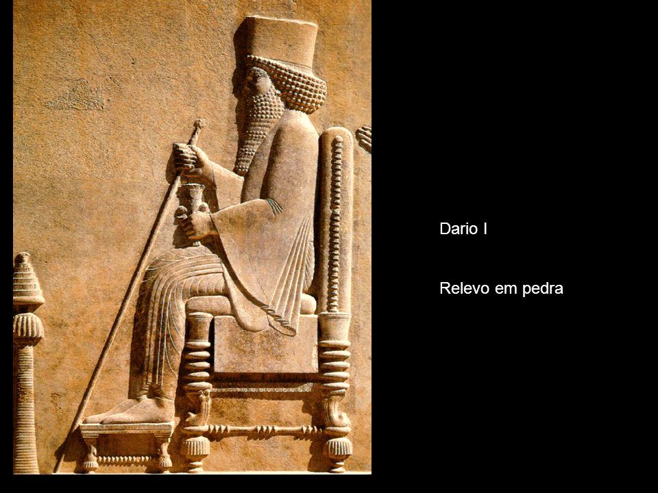 Dario I Relevo em pedra