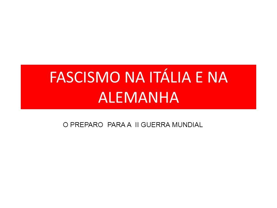 FASCISMO NA ITÁLIA E NA ALEMANHA