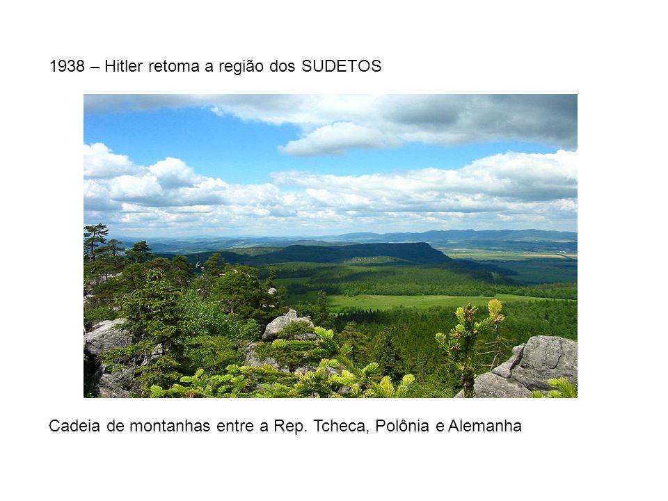 1938 – Hitler retoma a região dos SUDETOS