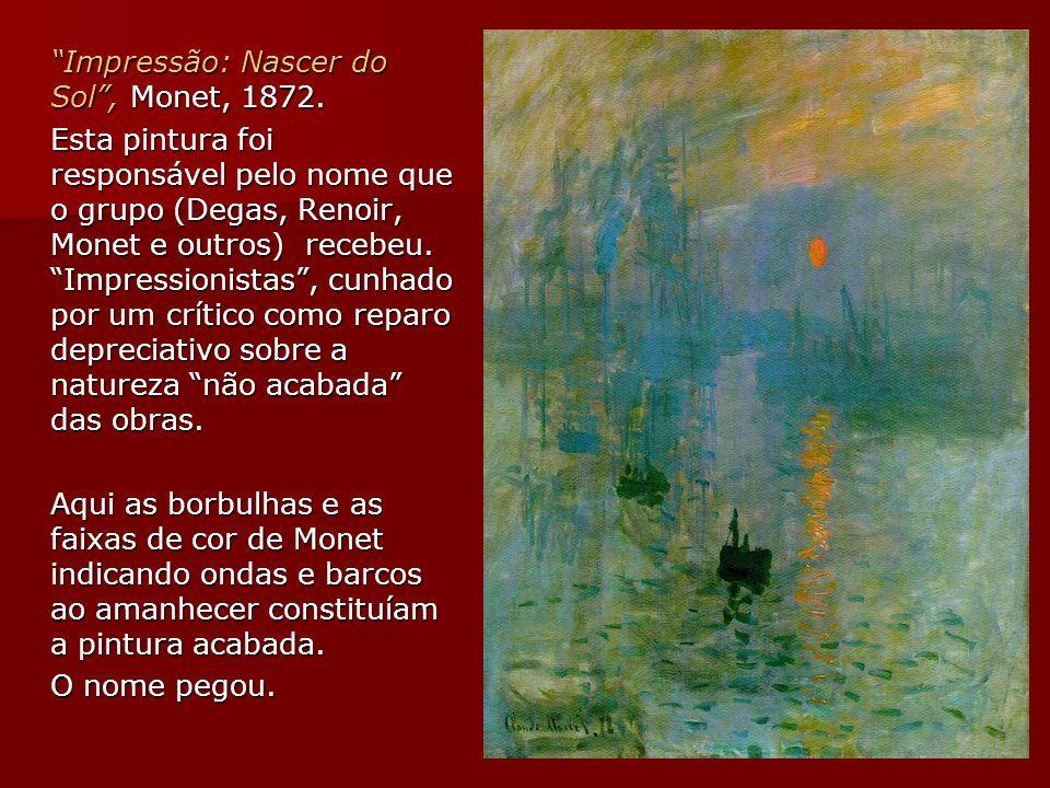 Impressão: Nascer do Sol , Monet, 1872.