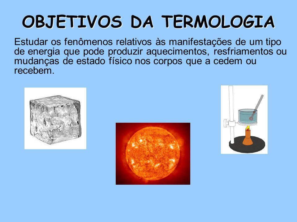 OBJETIVOS DA TERMOLOGIA