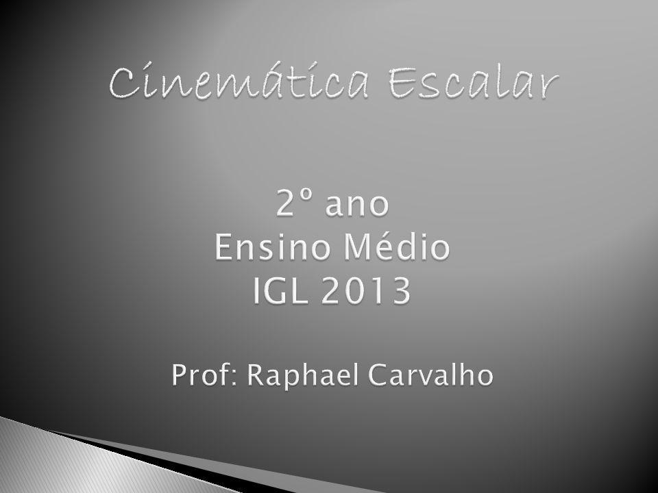 Cinemática Escalar 2º ano Ensino Médio IGL 2013 Prof: Raphael Carvalho