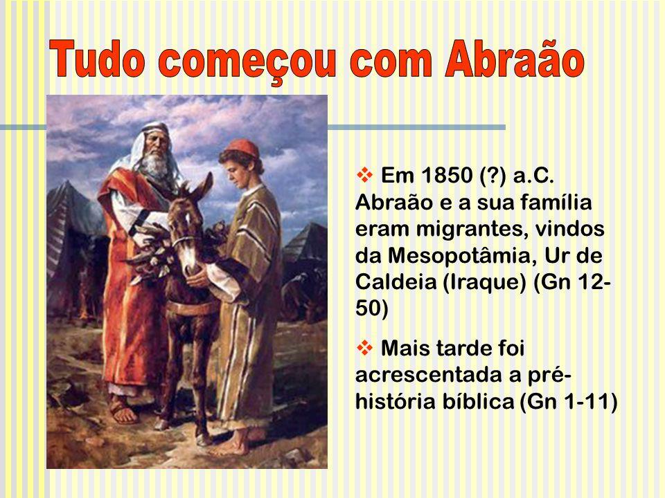 Tudo começou com Abraão