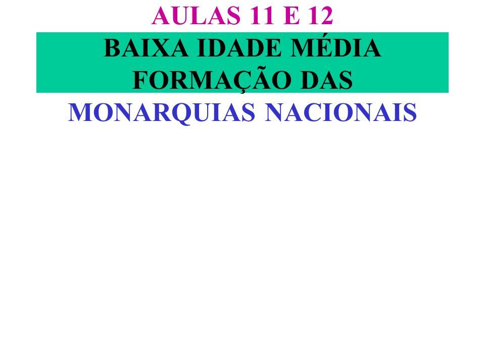 AULAS 11 E 12 BAIXA IDADE MÉDIA FORMAÇÃO DAS MONARQUIAS NACIONAIS