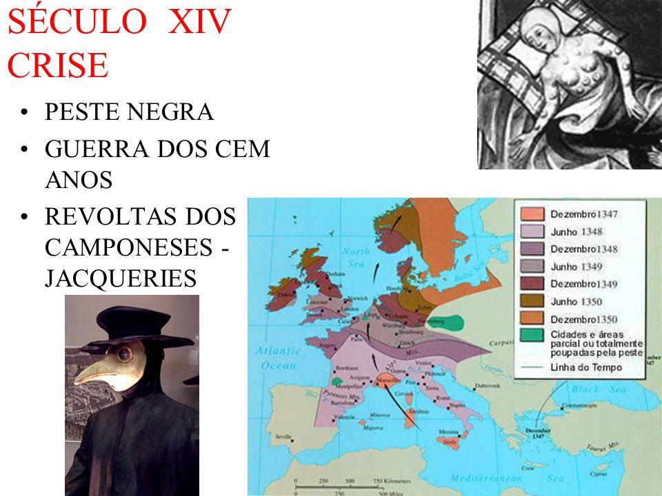 SÉCULO XIV CRISE PESTE NEGRA GUERRA DOS CEM ANOS