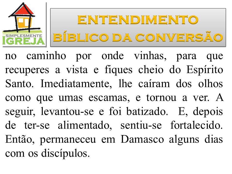 entendimento bíblico da conversão