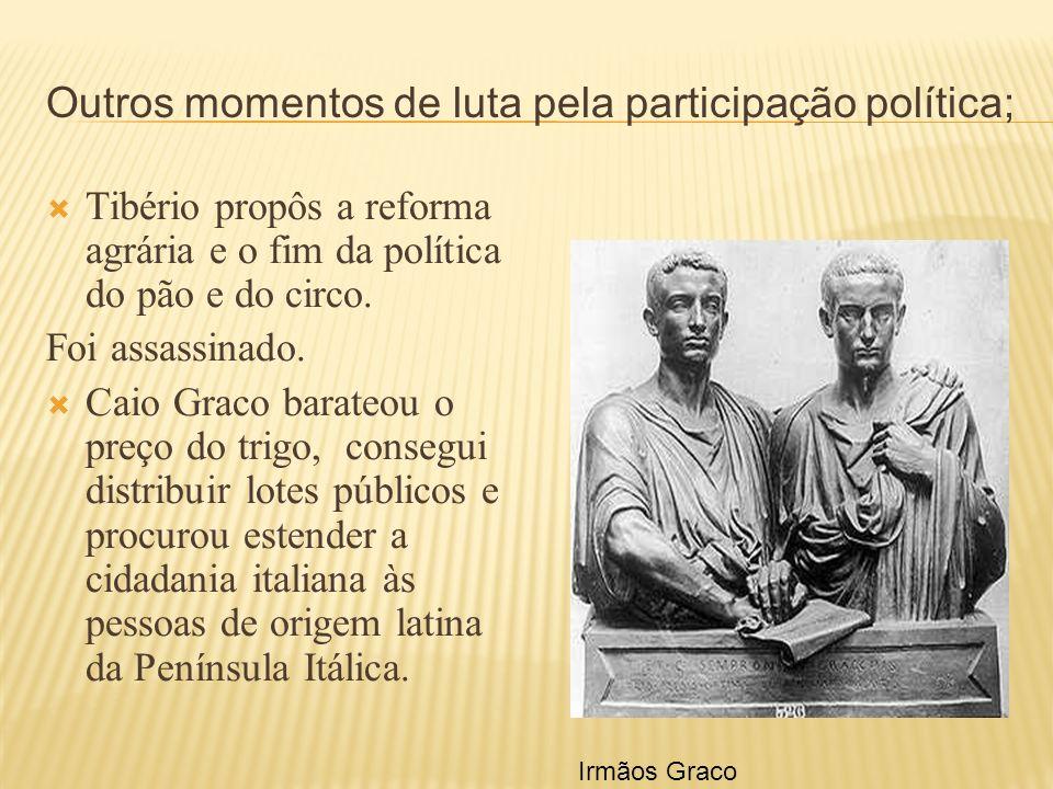 Outros momentos de luta pela participação política;
