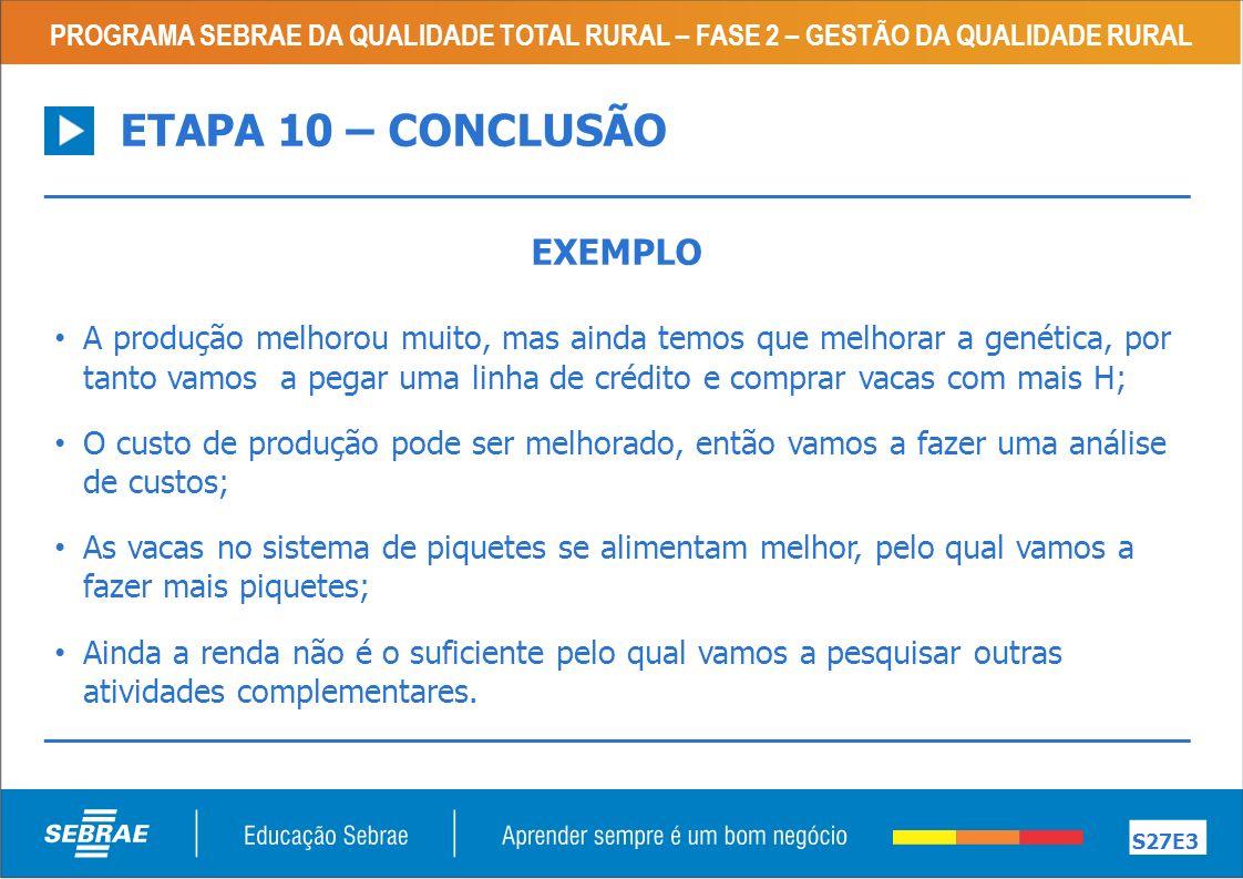ETAPA 10 – CONCLUSÃO EXEMPLO