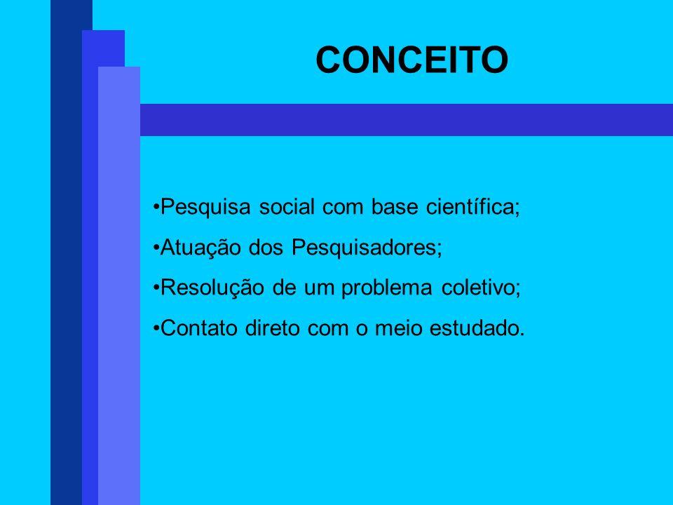 CONCEITO Pesquisa social com base científica;