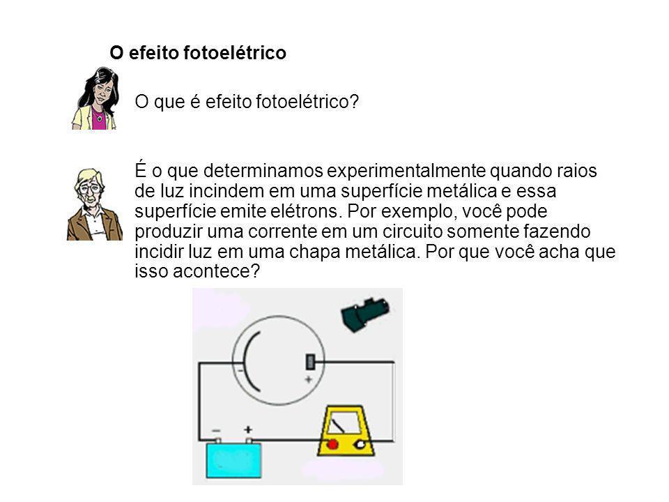 O efeito fotoelétrico O que é efeito fotoelétrico