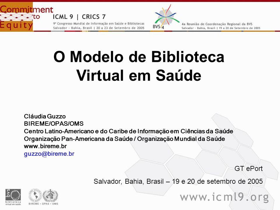 O Modelo de Biblioteca Virtual em Saúde
