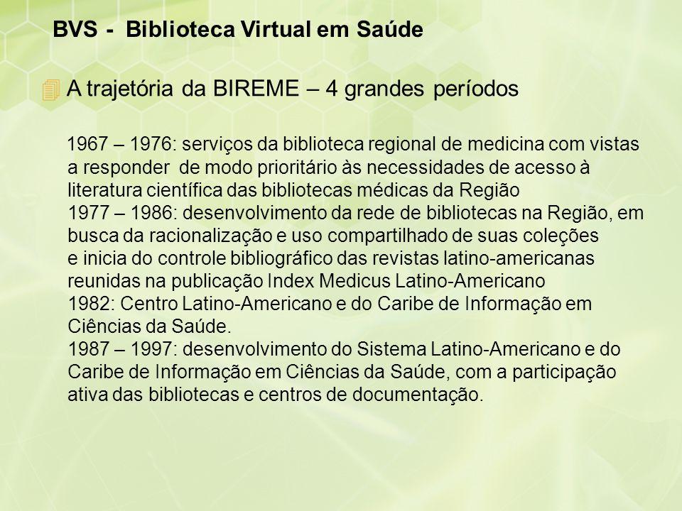 BVS - Biblioteca Virtual em Saúde