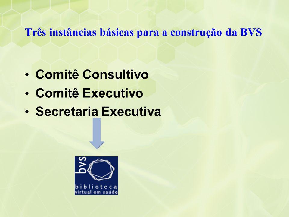 Três instâncias básicas para a construção da BVS