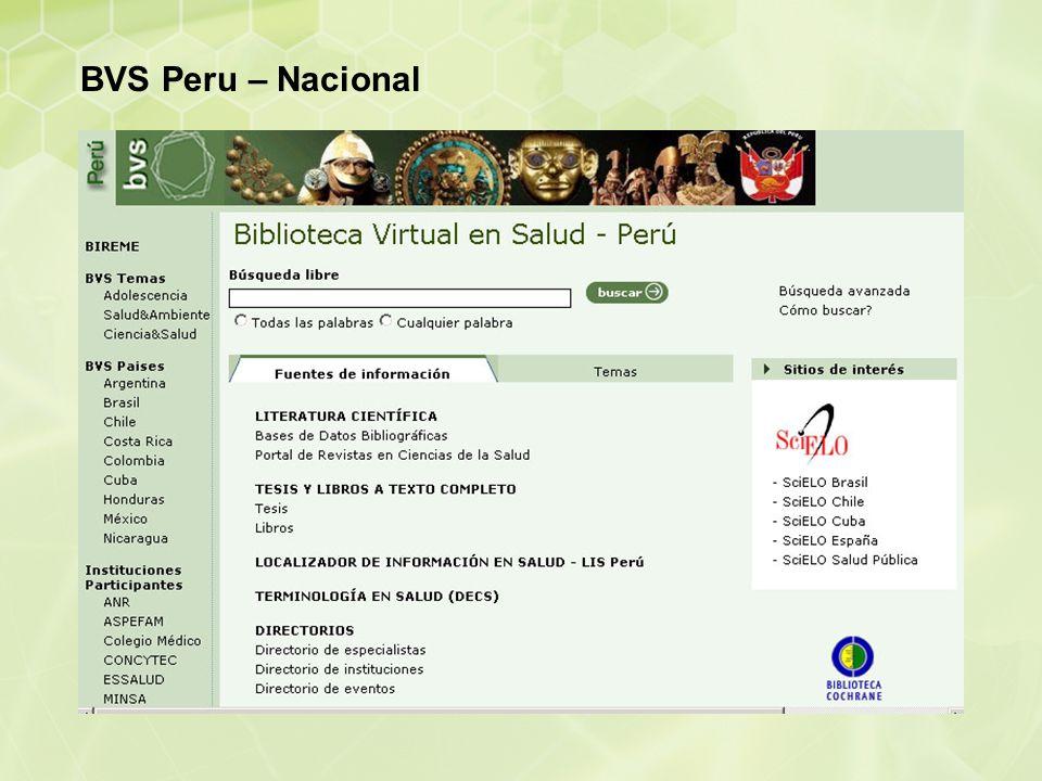 BVS Peru – Nacional