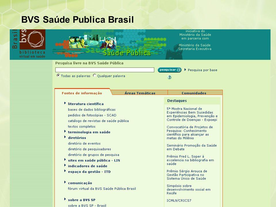 BVS Saúde Publica Brasil