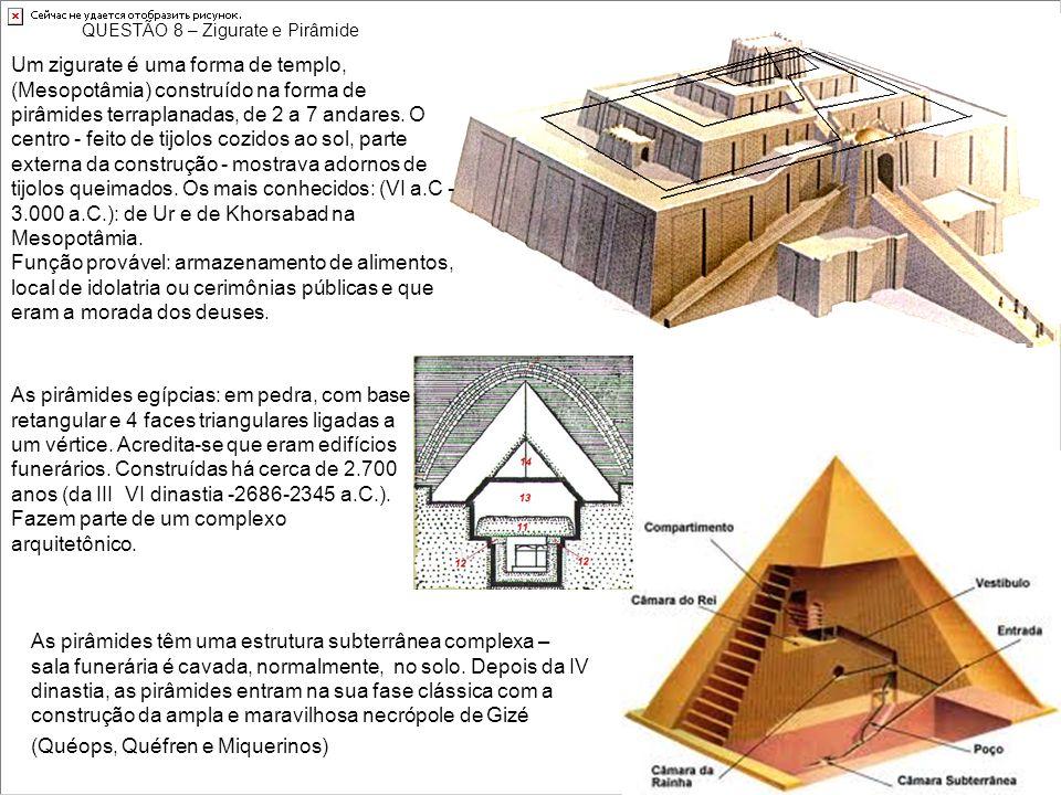 QUESTÃO 8 – Zigurate e Pirâmide