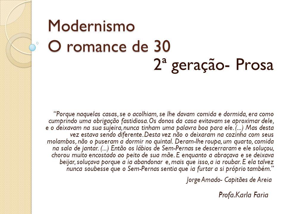 Modernismo O romance de 30