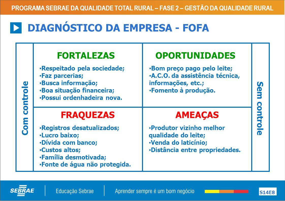 DIAGNÓSTICO DA EMPRESA - FOFA