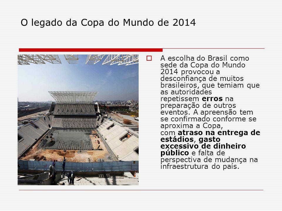 O legado da Copa do Mundo de 2014