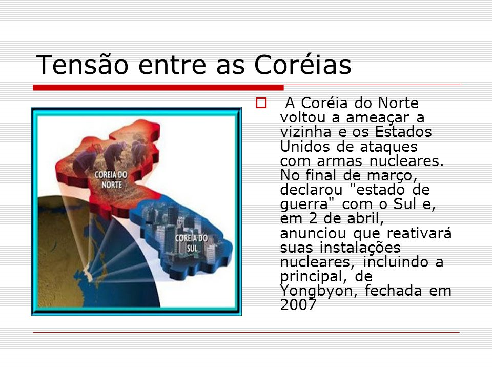 Tensão entre as Coréias