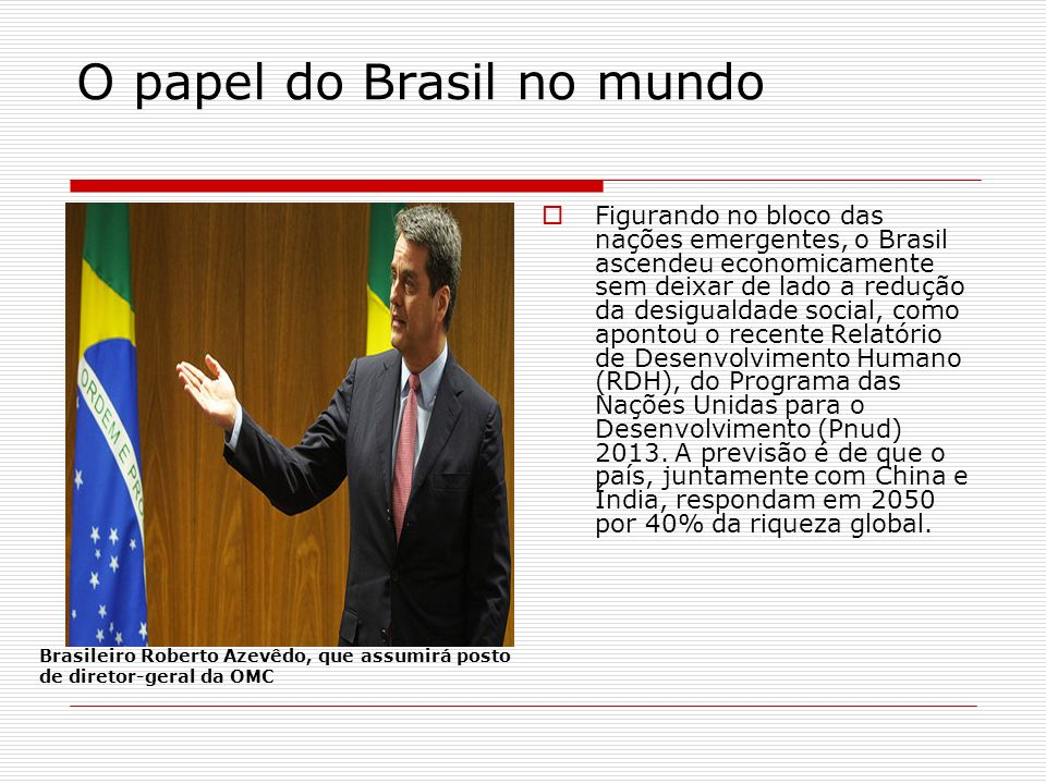 O papel do Brasil no mundo
