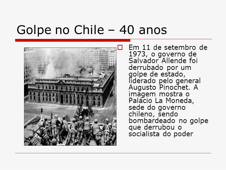 Golpe no Chile – 40 anos