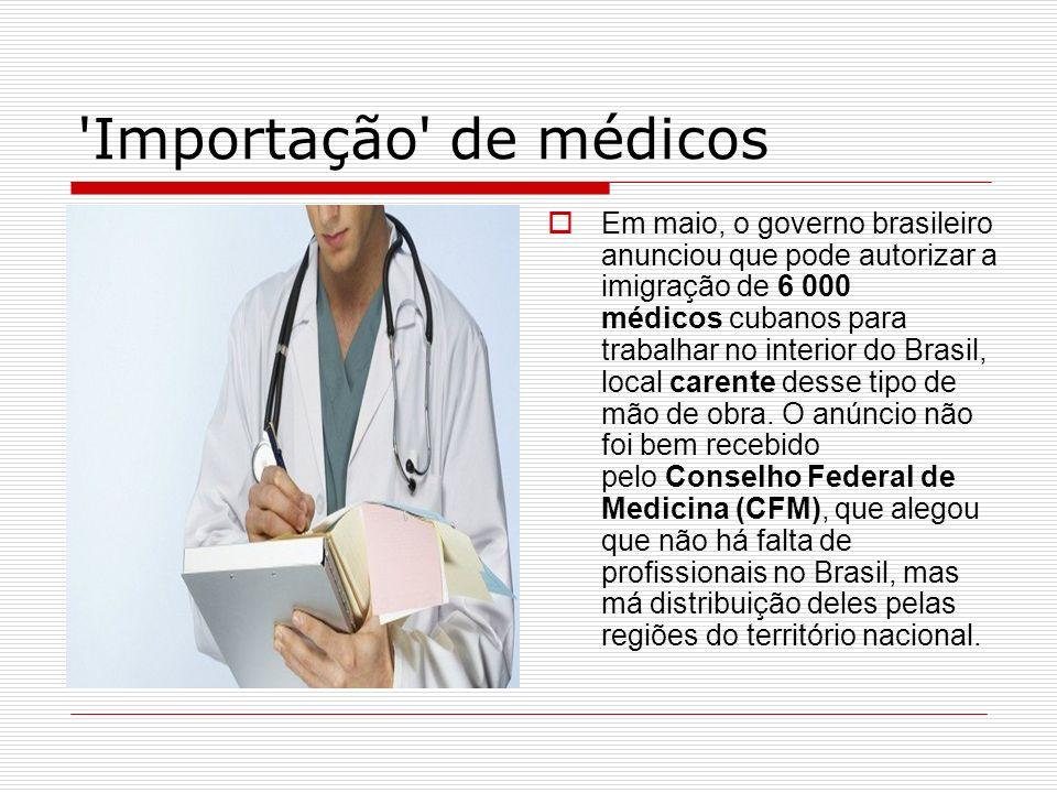 Importação de médicos
