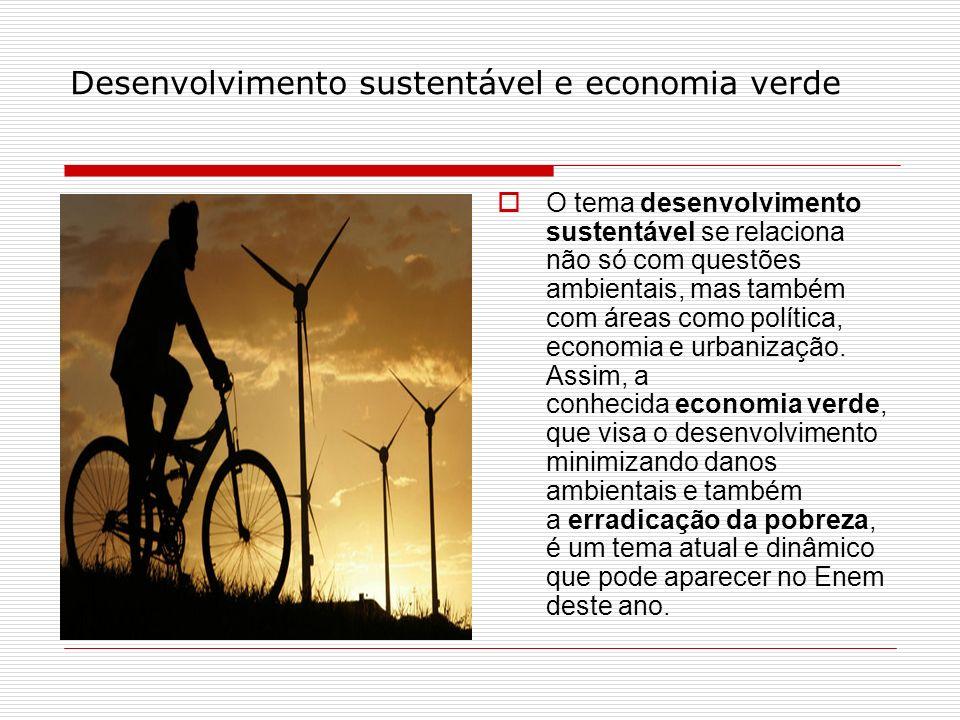 Desenvolvimento sustentável e economia verde