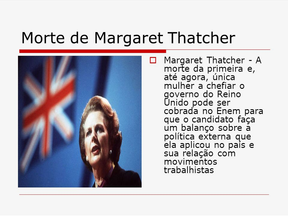 Morte de Margaret Thatcher