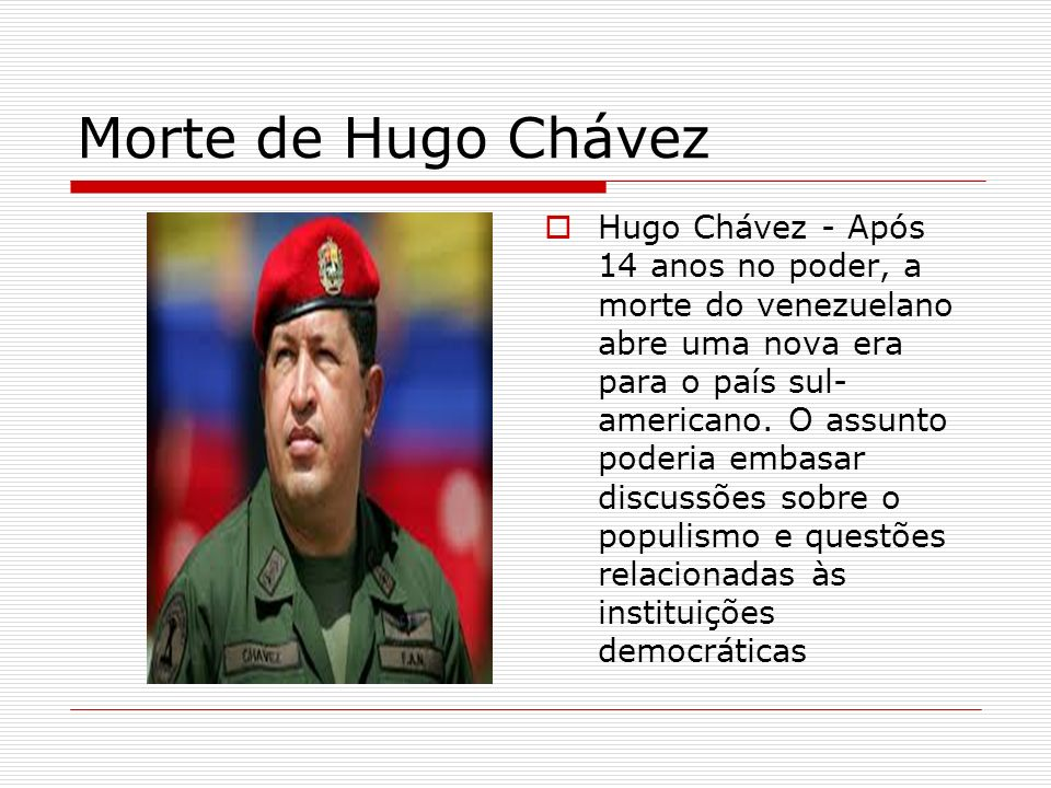 Morte de Hugo Chávez