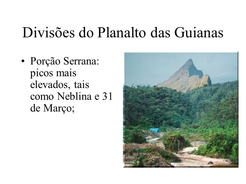Divisões do Planalto das Guianas