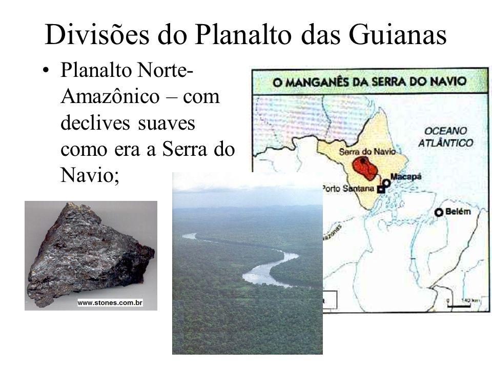 Divisões do Planalto das Guianas