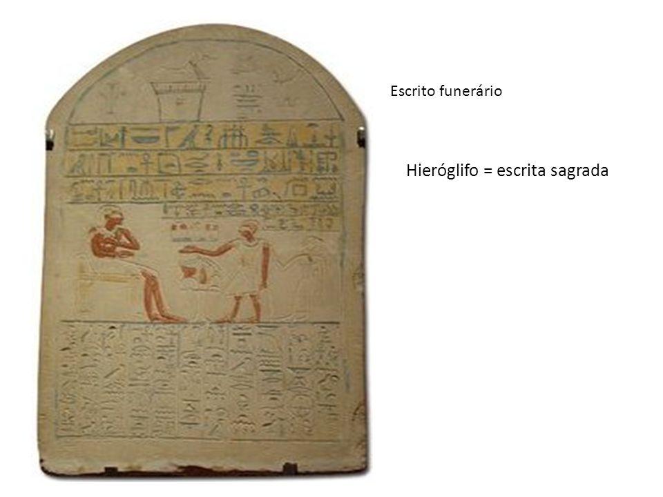 Hieróglifo = escrita sagrada