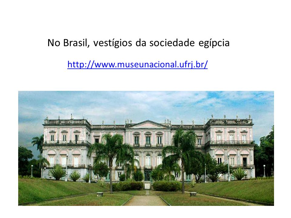 No Brasil, vestígios da sociedade egípcia