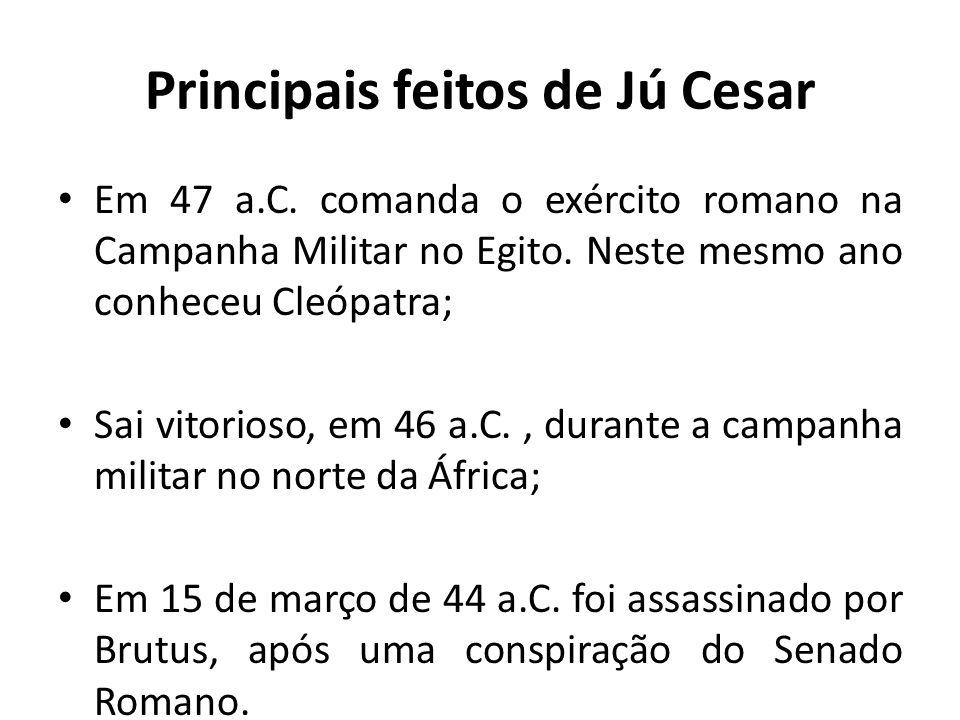 Principais feitos de Jú Cesar